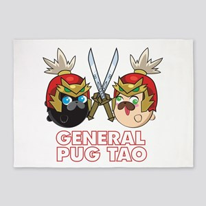 Poopie and Doopie - General Pug Tao 5'x7'Area Rug