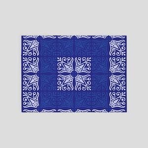 Blue Bandanna II 5'x7'Area Rug