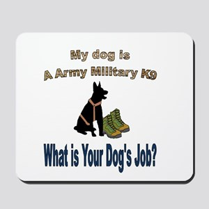 Army Military K9 GSD Mousepad