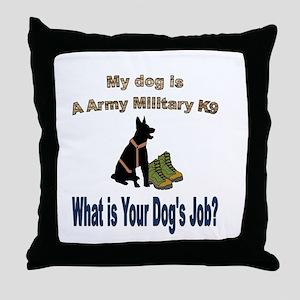 Army Military K9 GSD Throw Pillow