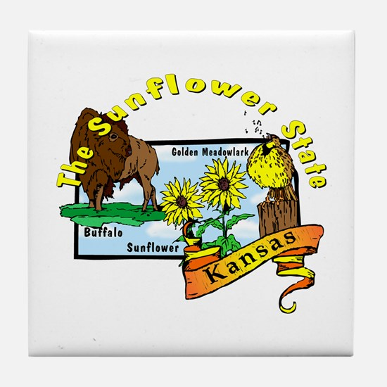 """Kansas Pride"" Tile Coaster"