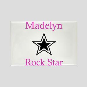 Madelyn - Rock Star Rectangle Magnet