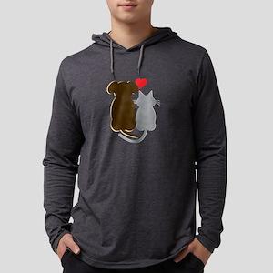 Dog Heart Cat Long Sleeve T-Shirt