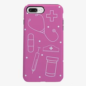 Nurse Line Art Pink iPhone 7 Plus Tough Case