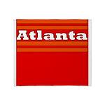 Atlanta Football Throw Blanket