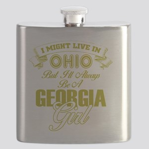 From Georgia to Ohio Girl Flask