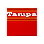 Tampa Football Throw Blanket