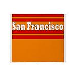 San Francisco Football Throw Blanket