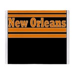 New Orleans Football Throw Blanket