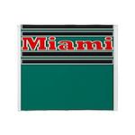 Miami Football Throw Blanket