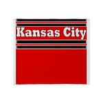 Kansas City Football Throw Blanket