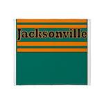 Jacksonville Football Throw Blanket