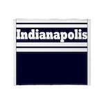 Indianapolis Football Throw Blanket