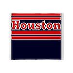 Houston Football Throw Blanket