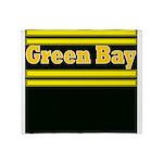 Green Bay Football Throw Blanket