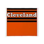 Cleveland Football Throw Blanket