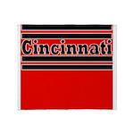 Cincinnati Football Throw Blanket