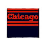 Chicago Football Throw Blanket