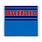 Buffalo Football Throw Blanket