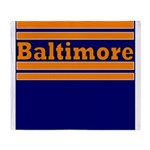 Baltimore Football Throw Blanket