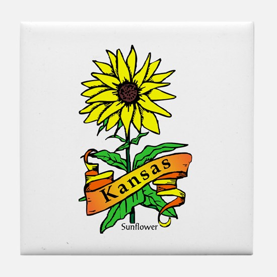 Kansas Pride! Tile Coaster