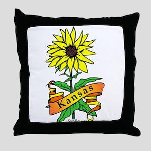 Kansas Pride! Throw Pillow