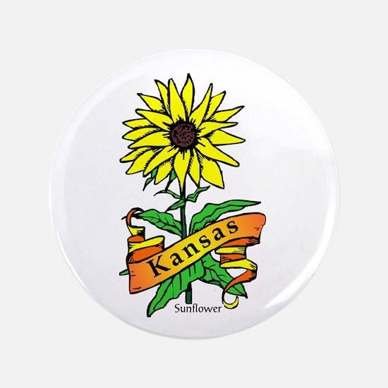 """Kansas Pride! 3.5"""" Button"""