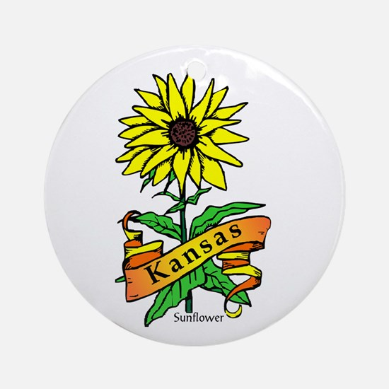 Kansas Pride! Ornament (Round)