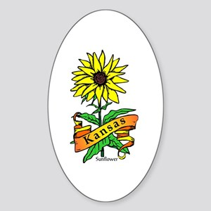 Kansas Pride! Oval Sticker