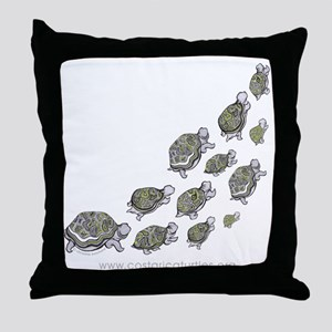 Turtle Illustration Throw Pillow