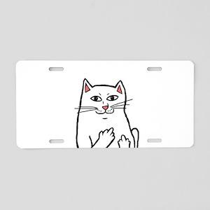 Naughty Cat Aluminum License Plate
