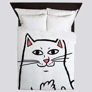 Naughty Cat Queen Duvet