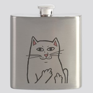 Naughty Cat Flask