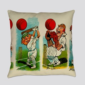Cricket Players Everyday Pillow