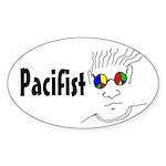 Pacifist oval sticker