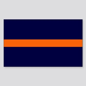 Auburn Thin Orange Line Rectangle Sticker