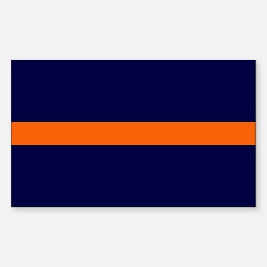 Auburn Thin Orange Line Rectangle Decal