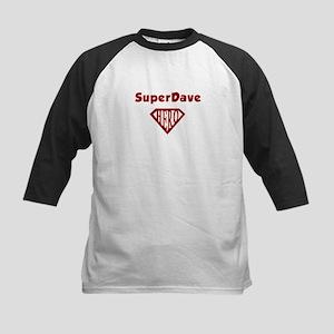 Super Hero Dave Kids Baseball Jersey