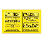 2 Stickers - Countersteering & Understeer