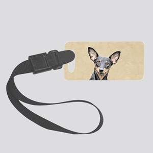 Miniature Pinscher Small Luggage Tag