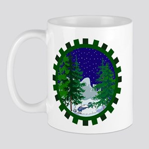 Winter Snowmobile Christmas Mug