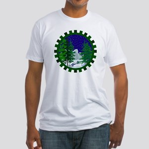 Winter Snowmobile Christmas Fitted T-Shirt