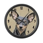 Miniature Pinscher Large Wall Clock