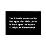 Eisenhower Quote Rectangle Magnet (10 pack)