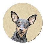 Miniature Pinscher Round Car Magnet
