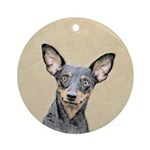 Miniature Pinscher Round Ornament