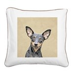 Miniature Pinscher Square Canvas Pillow