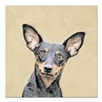 Miniature Pinscher Square Car Magnet 3