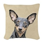 Miniature Pinscher Woven Throw Pillow