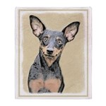 Miniature Pinscher Throw Blanket
